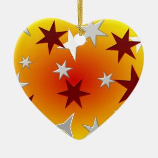 Red Silver Stars Ornament