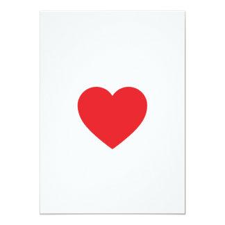 Red Single Heart Invitation