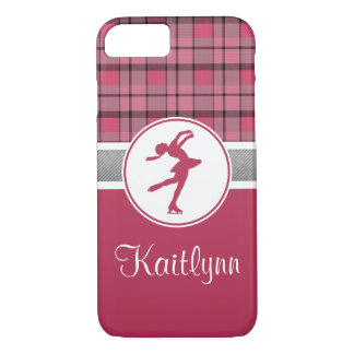 Red Skating Sweetheart Plaid iPhone 7 Case