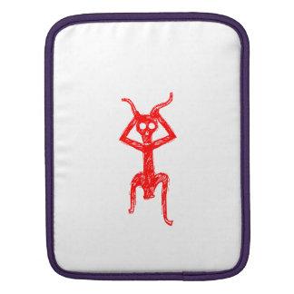 Red skeleton man iPad sleeve