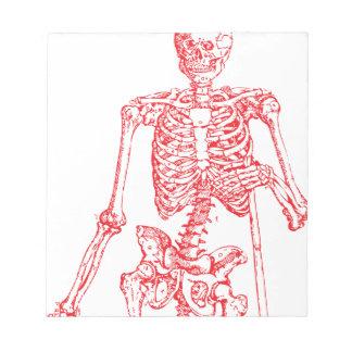 Red Skeleton Notepad