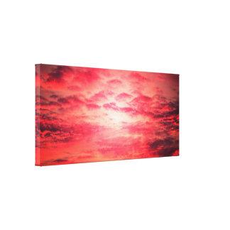 Red skies at night canvas print