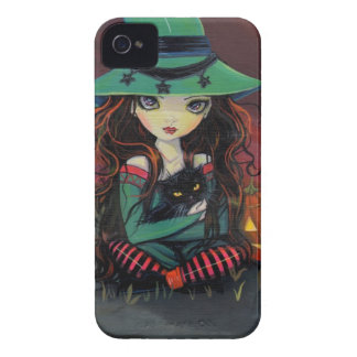 Red Skies of October Halloween Witch Art iPhone 4 Case-Mate Cases