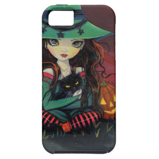 Red Skies of October Halloween Witch Art Tough iPhone 5 Case