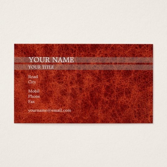 Red Skin | Elegant Business Card