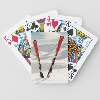 Red Skis Bicycle Playing Cards
