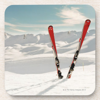 Red Skis Drink Coaster