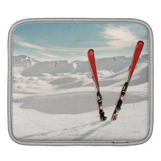 Red Skis iPad Sleeve
