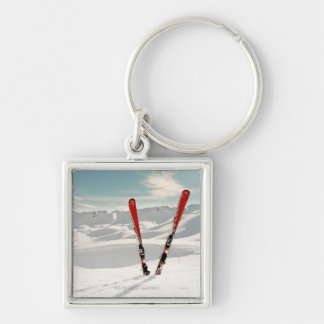 Red Skis Key Ring