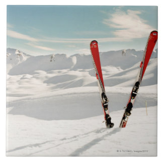 Red Skis Tile