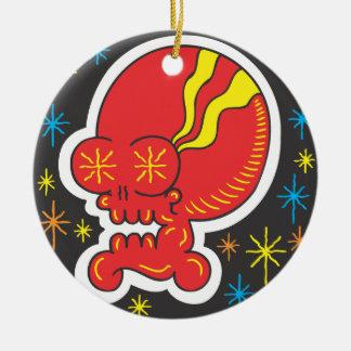 Red Skull Christmas Ornament