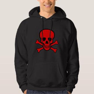 Red Skull & Crossbones Hoodie