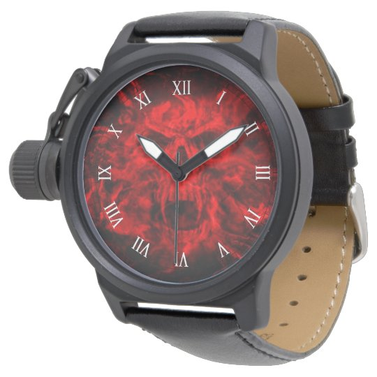 red skull head spot watches