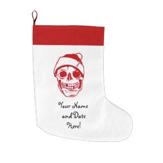 Red Skull In Santa Hat