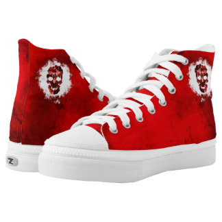 Red Skull Printed Shoes