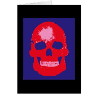 Red Skull Silk Screen Greeting Card