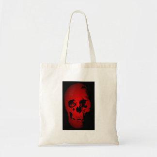 Red Skull Skeleton Tote Bag
