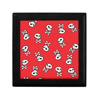 red skull tile gift box