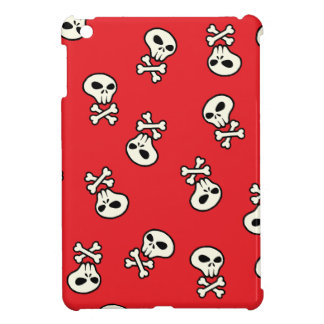 red skull tile iPad mini cases