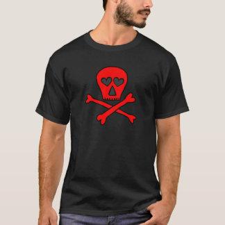 red skullncrossbones heartified dark T-Shirt
