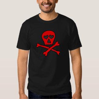 red skullncrossbones heartified dark tee shirts