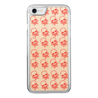 Red Skulls Carved iPhone 7 Case