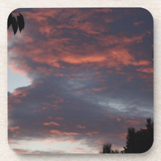 red sky at night beverage coasters
