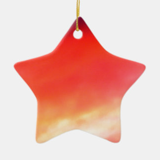 Red Sky At Night Ceramic Star Decoration
