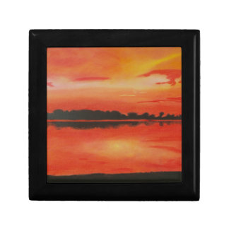 Red sky at night. gift box