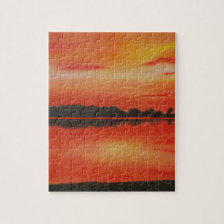Red sky at night. jigsaw puzzle