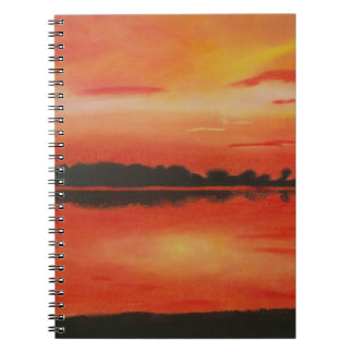 Red sky at night. notebook