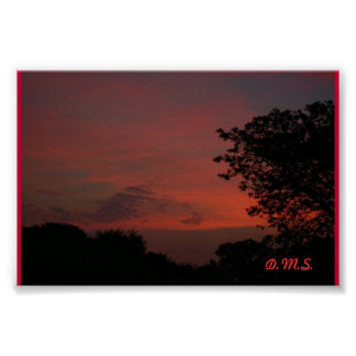""" Red Sky at Night.......... "" Poster"