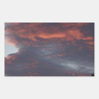 red sky at night rectangular sticker