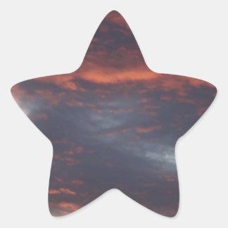 red sky at night star sticker
