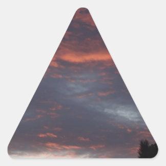 red sky at night triangle sticker