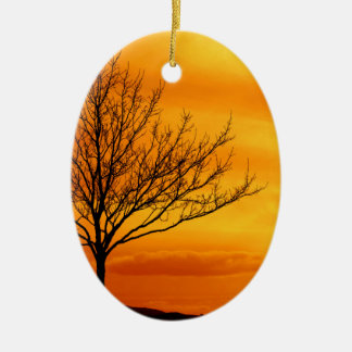 Red Sky Christmas Ornament