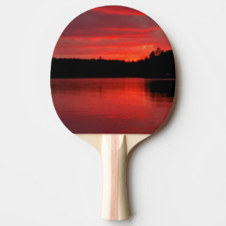 Red sky ping-pong paddle