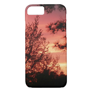 Red Sky Sunset with Trees iPhone 7 Case