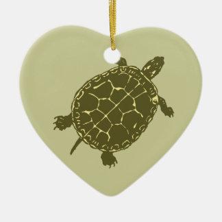 Red Slider Turtle Christmas Ornament