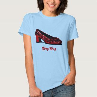red slippers, Bling Bling Tshirt