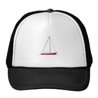 Red Sloop Sailboat Trucker Hat