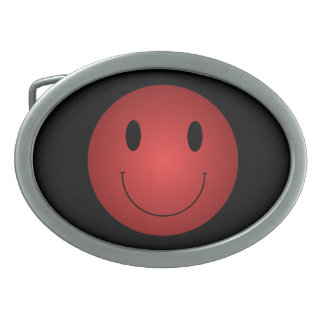 Red Smiley Belt Buckle