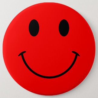 Red Smiley Face Button