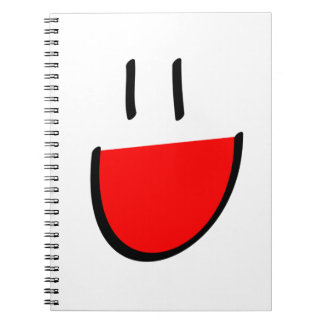 Red Smiley Face Notebook (Ringed)