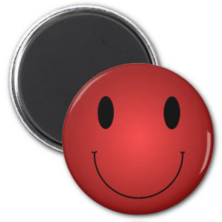 Red Smiley Fridge Magnets