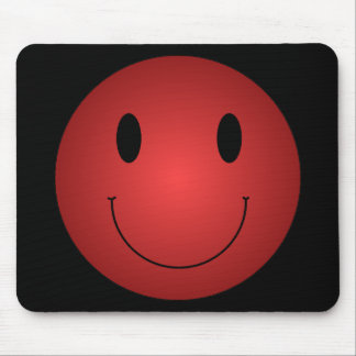 Red Smiley Mouse Pads