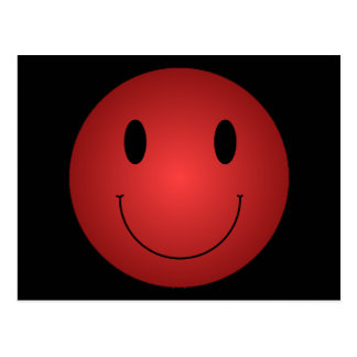 Red Smiley Postcard