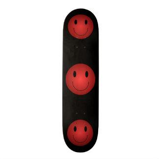 Red Smiley Skate Deck