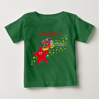Red Smiley Star 1st Birthday Shirt