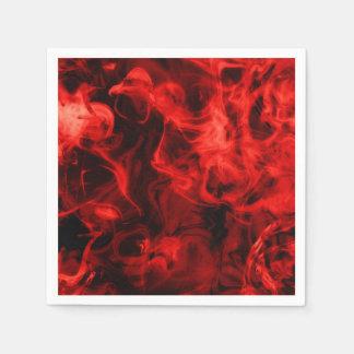 Red smoke paper napkin